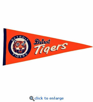 Detroit Tigers Cooperstown Wool Pennant (13 x 32)