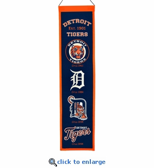 Detroit Tigers Heritage Wool Banner (8 x 32)