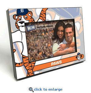 Detroit Tigers Mascot 4x6 Picture Frame - Paws