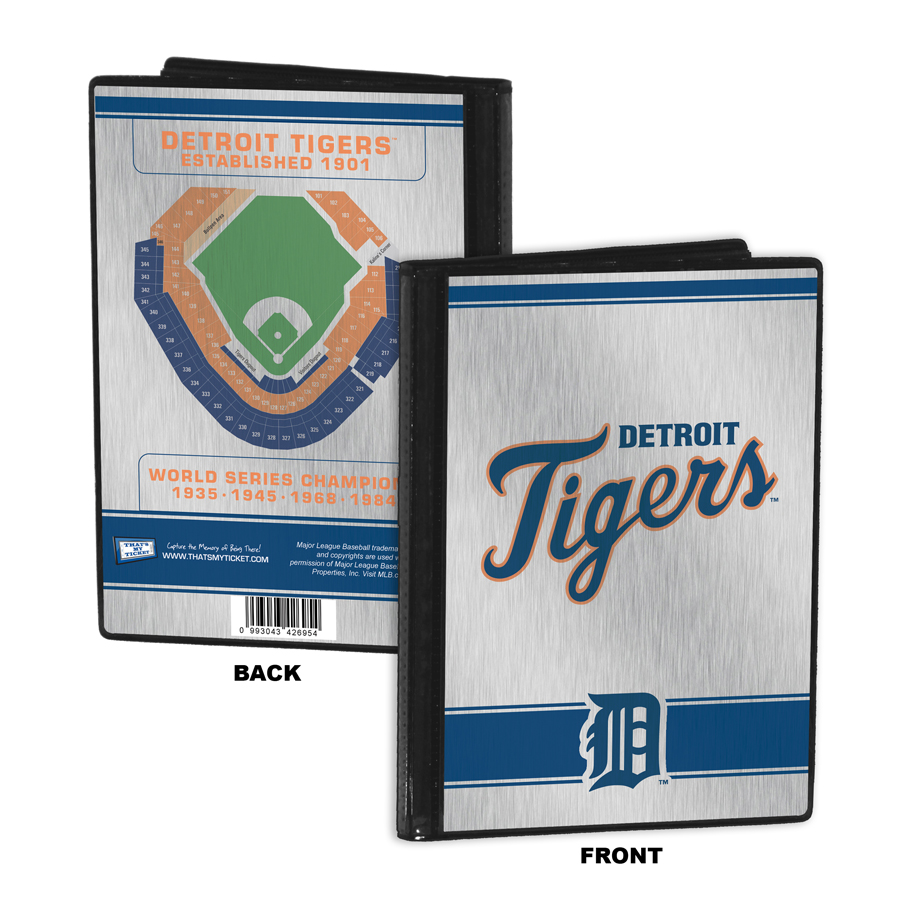 detroit tigers mlb lanyard key chain and ticket holder. Black Bedroom Furniture Sets. Home Design Ideas