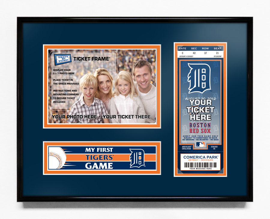 Detroit Tigers My First Game 5x7 Photo Ticket Frame