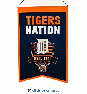 Detroit Tigers Nations Wool Banner (14 x 22)