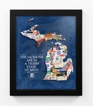 Detroit Tigers Personalized State of Mind Framed Print - Michigan