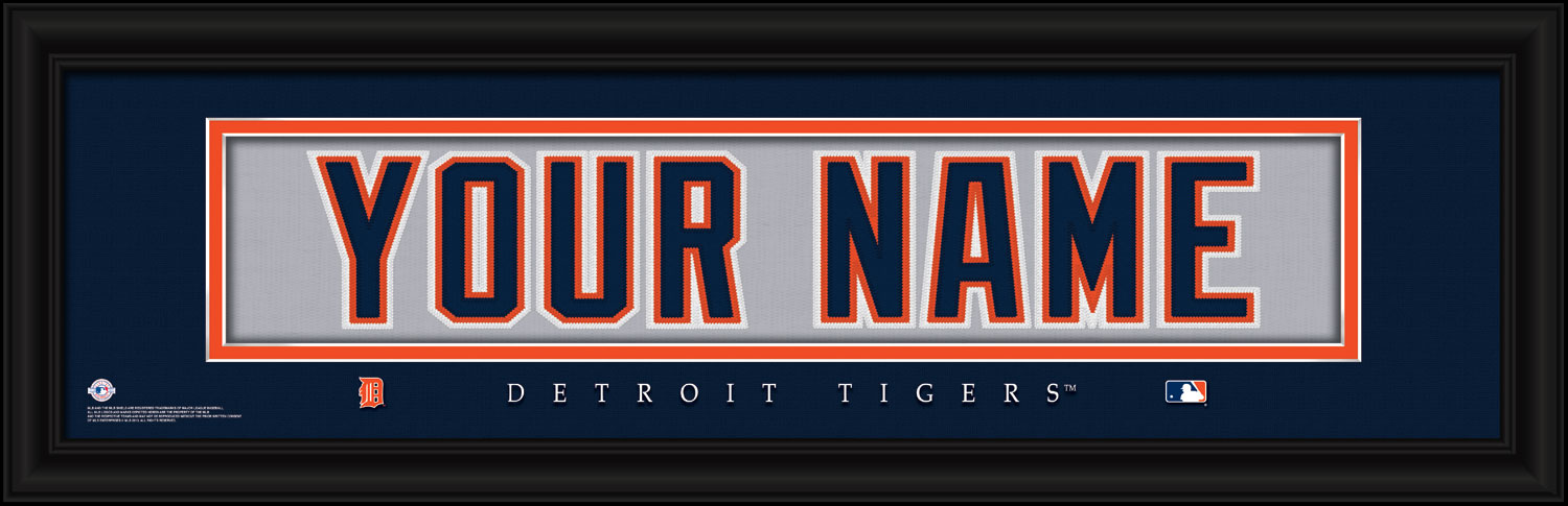 quality design f2a0f c05a2 MLB Personalized Jersey Nameplate Prints