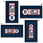 Detroit Tigers Single Ticket Frame