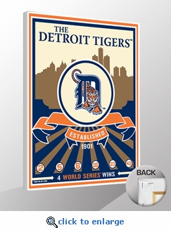 Detroit Tigers Sports Propaganda Canvas Print - Tigers