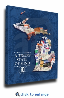 Detroit Tigers State of Mind Canvas Print - Michigan