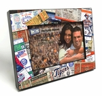 Detroit Tigers Ticket Collage Black Wood Edge 4x6 inch Picture Frame