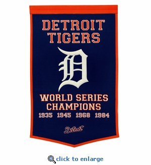 Detroit Tigers World Series Dynasty Wool Banner (24 x 36)