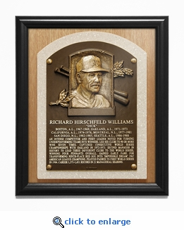 Dick Williams Baseball Hall of Fame Plaque Framed Print - Oakland A's