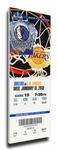 Dirk Nowitzki 20,000 Point Game Canvas Mega Ticket - Dallas Mavericks