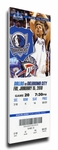 Dirk Nowitzki Canvas Mega Ticket - Dallas Mavericks