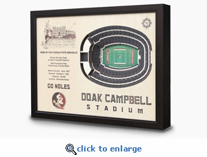 Doak Campbell Stadium 3-D Wall Art - Florida State Seminoles Football