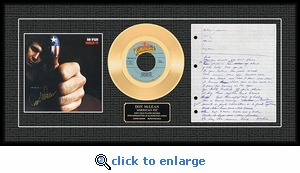 Don McLean - American Pie Autographed Framed Gold Record, LE 1,000