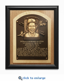 Don Sutton Baseball Hall of Fame Plaque Framed Print - Los Angeles Dodgers