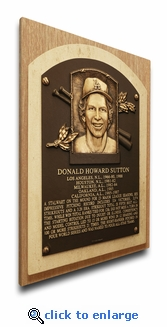 Don Sutton Baseball Hall of Fame Plaque on Canvas - Los Angeles Dodgers