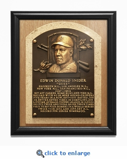 Duke Snider Baseball Hall of Fame Plaque Framed Print - Brooklyn Dodgers