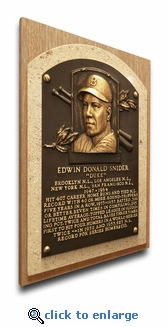 Duke Snider Baseball Hall of Fame Plaque on Canvas - Brooklyn Dodgers