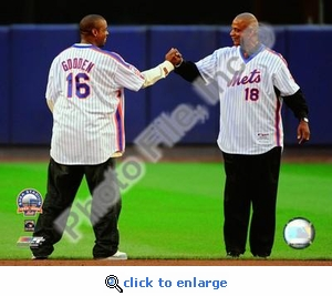 Dwight Gooden/ Darryl Strawberry Final Game at Shea Stadium 2008 8x10 Photo