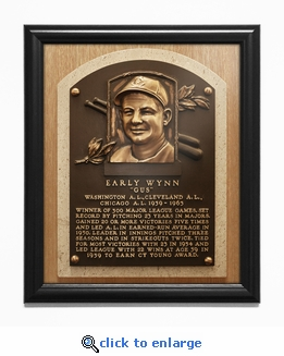 Early Wynn Baseball Hall of Fame Plaque Framed Print - Cleveland Indians