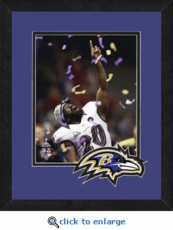 Ed Reed/Baltimore Ravens Framed Super Bowl 47 Celebration Photo