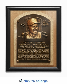 Eddie Mathews Baseball Hall of Fame Plaque Framed Print - Milwaukee Braves