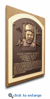 Eddie Murray Baseball Hall of Fame Plaque on Canvas - Baltimore Orioles