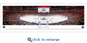 Edmonton Oilers - 1st Game at Rogers Place - Panoramic Photo (13.5 x 40)