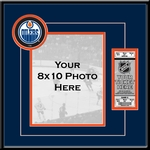 Edmonton Oilers 8x10 Photo Ticket Frame