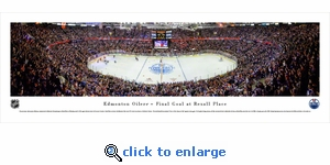 Edmonton Oilers - Final Game at Rexall - Panoramic Photo (13.5 x 40)