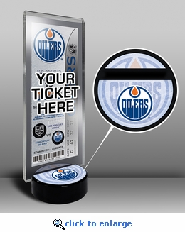 Edmonton Oilers Hockey Puck Ticket Display Stand