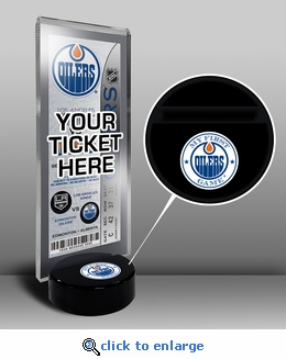 Edmonton Oilers My First Game Hockey Puck Ticket Stand