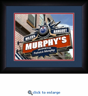 Edmonton Oilers Personalized Sports Room / Pub Print