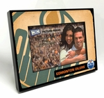 Edmonton Oilers Vintage Style Black Wood Edge 4x6 inch Picture Frame
