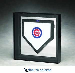 Elite Single Full Size Home Plate Acrylic Display Case with Mirrored Back