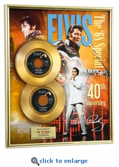 Elvis Presley - 68 Special 40th Anniversary Framed Gold 45, LE 2008
