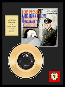 Elvis Presley - A Big Hunk O' Love Framed Gold Record