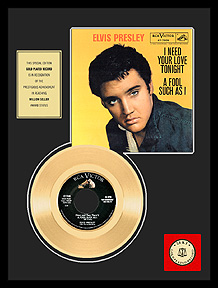 Elvis Presley - A Fool Such As I Framed Gold Record