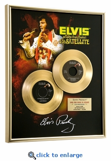 Elvis Presley - Aloha From Hawaii 35th Anniversary Framed Gold 45, LE 2008