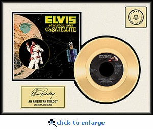 Elvis Presley - An American Trilogy Framed Gold Record
