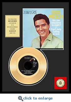 Elvis Presley - Are You Lonesome Tonight Framed Gold Record