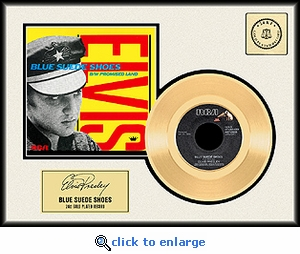Elvis Presley - Blue Suede Shoes Framed Gold Record (yellow sleeve)
