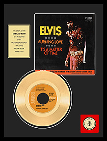 Elvis Presley - Burning Love Framed Gold Record