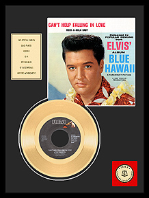 Elvis Presley - Can't Help Falling In Love Framed Gold Record