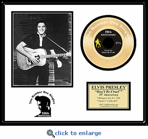 Elvis Presley - Don't Be Cruel 50th Anniversary Framed Gold 45, LE 5,000