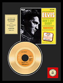 Elvis Presley - Don't Cry Daddy Framed Gold Record