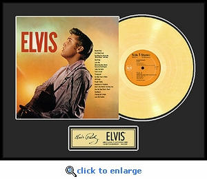 Elvis Presley - Elvis Framed Gold Record, LE 2,500