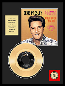 Elvis Presley - Good Luck Charm Framed Gold Record