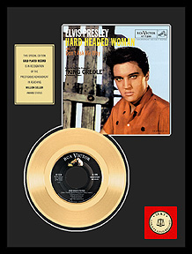 Elvis Presley - Hard Headed Woman Framed Gold Record