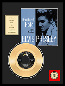 Elvis Presley - Heartbreak Hotel Framed Gold Record (blue sleeve)